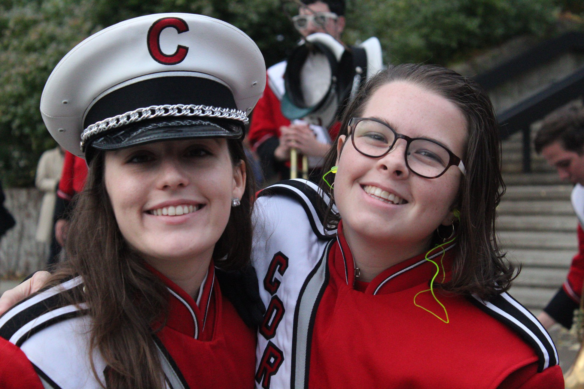 Maria (right) with fellow horn senior Lauren McBrearty (right)